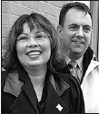 "?? —RICHARD A. CHAPMAN/SUN-TIMES ?? ""It's Bryan's turn,"" Tammy Duckworth says of her husband, Brian Bowlsbey."