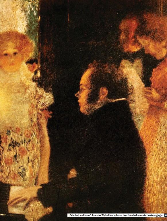 """??  ?? """"Schubert am Klavier"""": Eines der Werke Klimts, die mit dem Brand in Immendorf verloren gingen"""