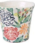 ??  ?? Hand-painted floral planter (14 x 13.5cm) R199, Poetry