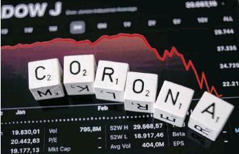 ?? FOTO: IMAGO-IMAGES ?? Aufgrund der Corona-Pandemie fallen weltweit die Aktienkurse. Anlageexperten raten dennoch davon ab, ausgerechnet jetzt zu verkaufen.