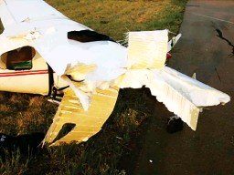 ??  ?? Damage caused to the right and aileron of ZU-BXA