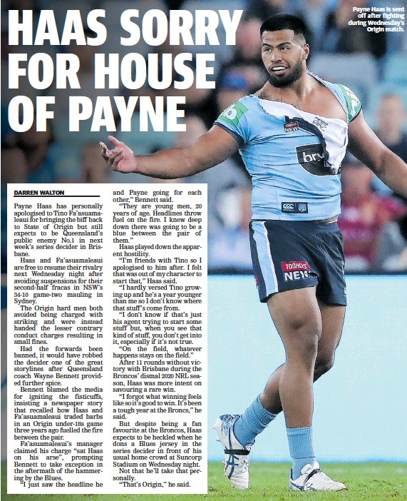 Haas Sorry For House Of Payne Pressreader