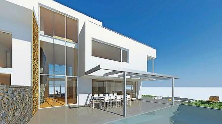 ?? KYBURZARCHIMMO.CH ?? So stellt sich Fussballstar Xherdan Shaqiri seine neue Villa in Rheinfelden AG vor.