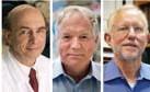?? FOTO AP ?? Harvey J. Alter, Charles M. Rice en Michael Houghton deden elk onderzoek naar hepatitis C.