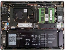 ??  ?? The Framework laptop is an inverted design, which means the RAM and single M.2 bay are located under the keyboard.