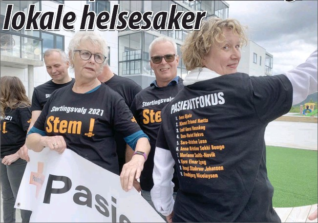 ?? (Foto: Jarle Mjøen) ?? Pasientfokus har fått seg mange som har vaert sentral i andre politiske partier, men Irene Ojala har vaert frontfigur.