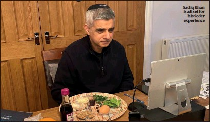 ??  ?? Sadiq Khan is all set for his Seder experience