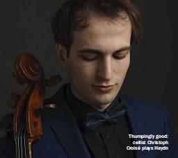 ??  ?? Thumpingly good: cellist Christoph Croisé plays Haydn