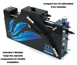 ??  ?? Schenker's Modular range has separate components for flexible installation Compact Zen 30 watermaker from Schenker