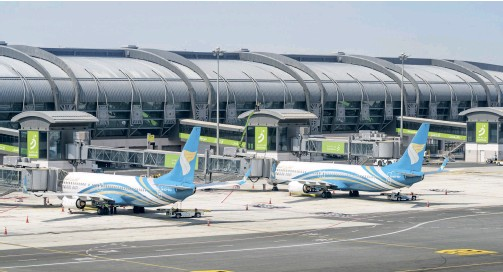 ??  ?? Salalah Airport has experienced a record breaking Khareef season this year, with over 630,000 tourists visiting the region.
