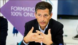 ?? (Photos Cyril Dodergny) ?? Lionel Martellini, directeur de l'Edhec Risk Institute : « En matière de retraite, en France, nous avons besoin de promouvoir deux grands principes de santé financière : contribuer régulièrement et investir sainement. »