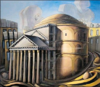 ?? phOTOs sUppliEd: arT GallEry OF sT. albErT ?? The Pantheon in Context by Byron McBride is part of a collection of works that reflect places travelled.