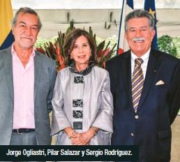 ??  ?? Jorge Ogliastri, Pilar Salazar y Sergio Rodríguez.