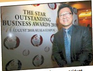 ??  ?? bhd group president UCSI education sdn soba's first entrepreneur datuk Peter ng was of the year.