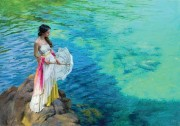 "??  ?? pastel on Ingres paper, 25.6 x 36.2"", by Vicente Romero. 32. Artist-Authorized Fine Art LLC, Rejuvenation, pastel on"