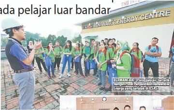 ??  ?? BERMANFAAT: Para pelajar tertarik dengan Pusat Penyelidikan Renewable Energy yang terletak di ILSAS.