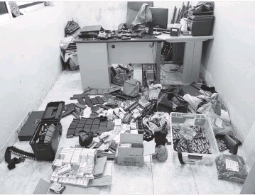 ?? Haiti National Police ?? Haiti National Police show off evidence seized in their investigation into the assassination of President Jovenel Moïse.