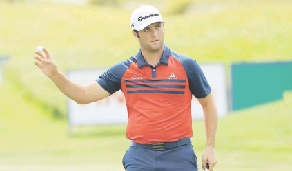 ?? Picture: Getty Images ?? CAREFUL. Justin Rose has told Jon Rahm (above) to behave himself after his actions at the US Open last month.