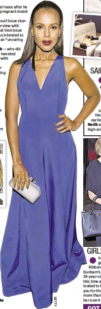 ??  ?? Kerry Washington beams in blue at the ABFF Awards in Beverly Hills, Calif.