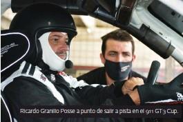 ??  ?? Ricardo Granillo Posse a punto de salir a pista en el 911 GT3 Cup.