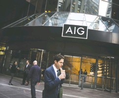 ?? MICHAEL NAGLE / BLOOMBERG FILES ?? AIG, which has no Black executives among its 12-person leadership team, pledged to build a more inclusive firm following the police killing of George Floyd this May.