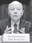 ?? WIN MCNAMEE, GETTY IMAGES ?? IRS chief John Kosk­i­nen tes­ti­fies on Capi­tol Hill.