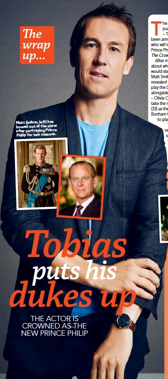 ??  ?? Matt (below, left) has bowed out of the show after portraying Prince Philip for two seasons.