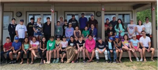 ?? Shara Johnson, Communications Coordinator, Mi'kmaw Kina'matnewey photo ?? Mi'kmaw Language Camp—students from all 12 communities.
