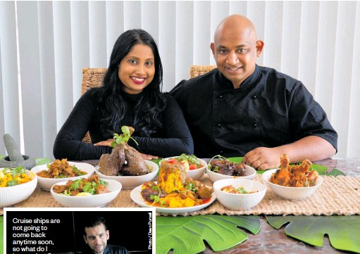 ?? Photo / Sylvie Whinray ?? Alexandra Kumaran and husband Joel Singam now supply night markets with Malaysian Indian food.