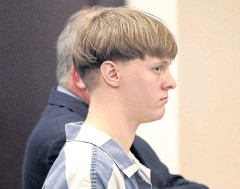 ?? AP/POST AND COURIER ?? Dylann Roof appears in the Charleston County Court to enter his guilty plea on murder charges in April.