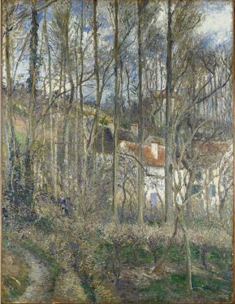 ?? (THE NATIONAL GALLERY, LONDON) ?? Camille Pissarro, «Côte des Boeufs, Pontoise», 1877, huile sur toile.