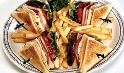??  ?? boring: The club sandwich is an international barometer of value