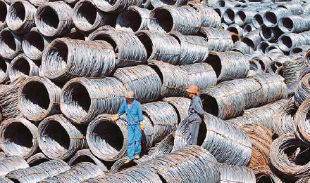 ?? EPA PIC ?? China is the world's largest steel producer but accounts for less than one per cent of United States imports and sells only 10 per cent of its wrought aluminium abroad.