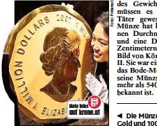 Pressreader Kronen Zeitung 2017 03 28 100 Kg Goldmünze Aus