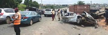 ??  ?? •Scene of the Lagos crash