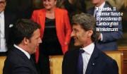 ??  ?? Accordo. Il premier Renzi e il presidente di Lamborghini Winkelmann