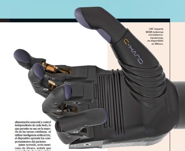??  ?? HAT requería MEMS (sistemas microelectromecánicos), no disponibles en México.