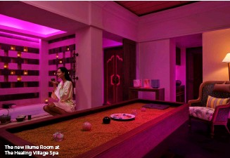 ??  ?? The new Illume Room at The Healing Village Spa