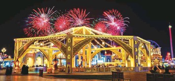 ?? Courtesy: Global Village ?? ■ The Majlis of the World is a reservation-only area for families and features calligraphers, a tanoura show, Musaharati Ramadan drummers, and Oud, Nay and Qanoun players.