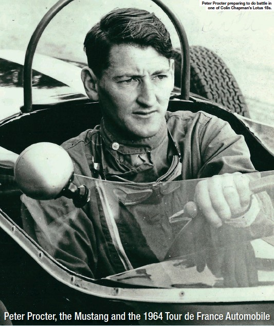 ??  ?? Peter Procter preparing to do battle in one of Colin Chapman's Lotus 18s.