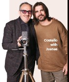 ??  ?? Costello with Juanes