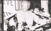 ??  ?? Archbishop Desmond Tutu at the launch of the United Democratic Front at the Students' Union Hall, University of Natal, February 1985.