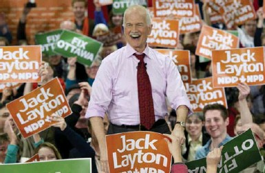 ?? PAUL CHIASSON/THE CANADIAN PRESS FILE PHOTO ?? New Democrat leadership candidates talk a lot about Jack Layton and the gains the party made during his leadership.