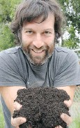 ?? SUBMITTED PHOTO ?? Mike Dorion says a handful of soil is bursting with life.