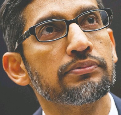 ?? SAUL LOEB / AFP VIA GETTY IMAGES FILES ?? Naturally cautious, Alphabet CEO Sundar Pichai has the sort of non-confrontat­ional style that makes him well-suited to the job at hand — a contrast to Google co-founders Larry Page and Sergey Brin.