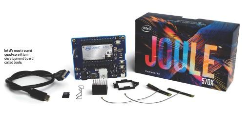 ??  ?? Intel's most recent quad-core Atom development board called Joule.