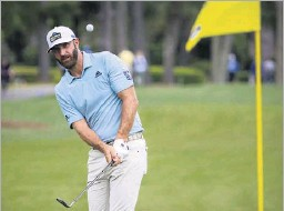 ?? Stephen B. Morton/the Associated Press ?? Top-ranked Dustin Johnson, who shot a 1-under 70 at the RBC Heritage on Thursday, has committed to play in the AT&T Byron Nelson at TPC Craig Ranch.