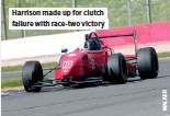 ??  ?? Harrison made up for clutch failure with race-two victory