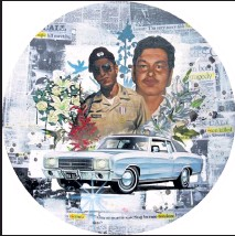 """?? Grace Gutierrez / Courtesy photo ?? This piece by artists Adrian Raya and Ramon Trujillo memorializes two 21-year-old men, Juan Louis Garcia and Jeffrey """"Beaver"""" Cordova, who were shot by a police officer in Longmont in 1980, can be seen at Firehouse Art Center through Nov. 8."""