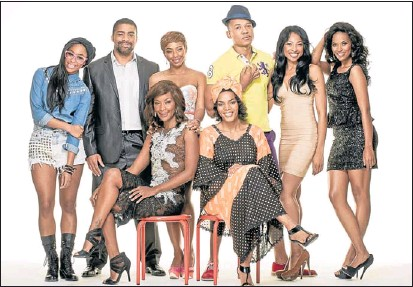 ??  ?? ALL TOGETHER: The all-star cast of a new television series Rockville that explores lives of two families from different classes PHOTO: SUPPLIED